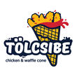 logo chicken & waffle cone