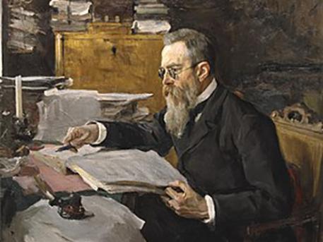 Rimszkij-Korszakov, Szerov festménye, forrás: wikipedia