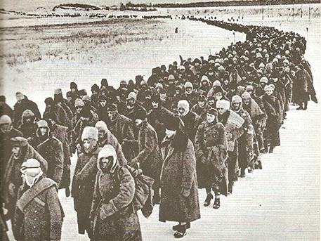 Korabeli szovjet sajtófotó a hadifoglyokról, wikimedia