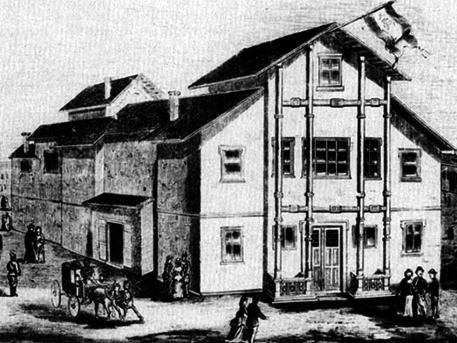 Ez itt az István téri színház, forrás: MEK