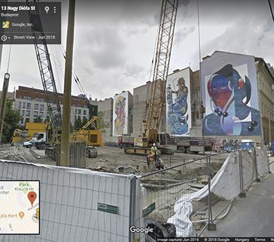 Ez már a Google maps idei, friss képe az utcáról